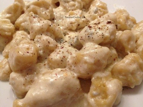 Gnocchi di polenta al gorgonzola