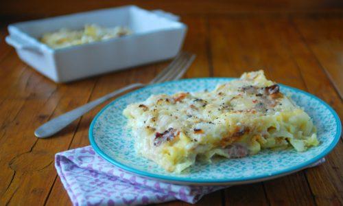 Lasagne con prosciutto e finocchi