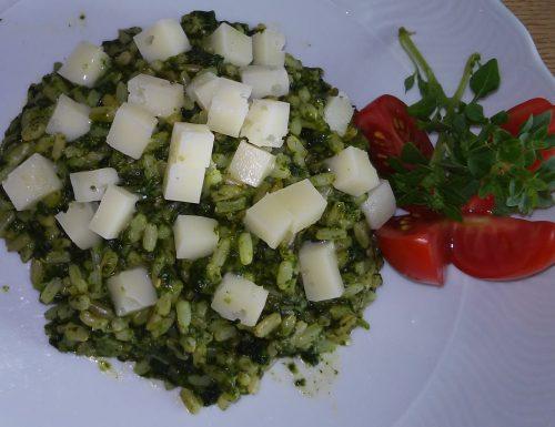 Risotto integrale agli spinaci
