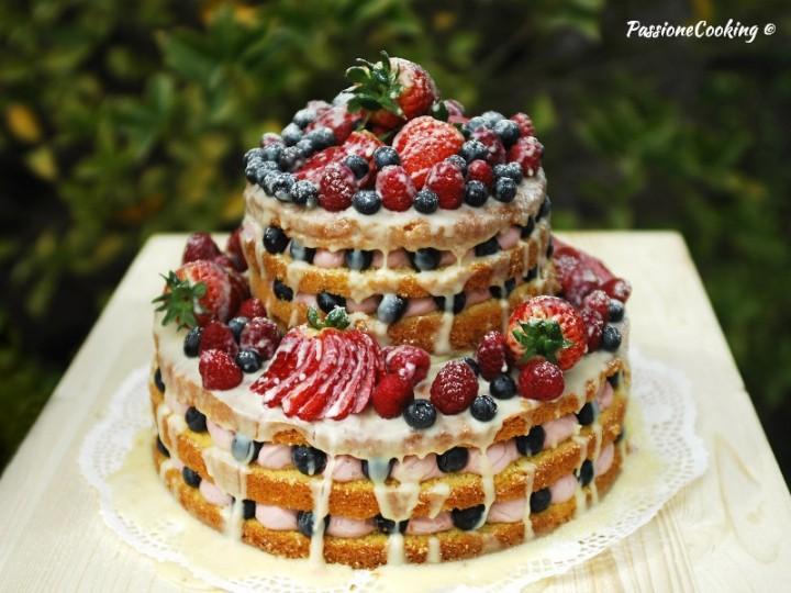 Naked cake con crema