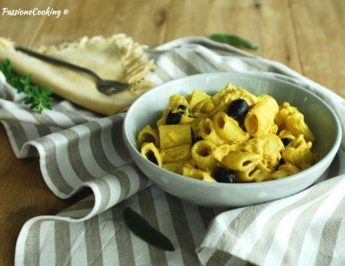 Pasta con zafferano tonno e olive – cremosa e delicata