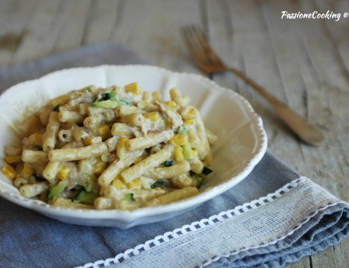 Pasta tonno zucchine mais e Philadelphia