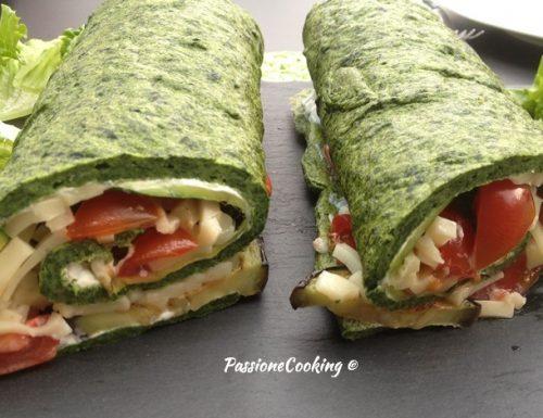 Rotolo agli spinaci con verdure grigliate