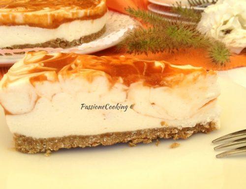 Cheesecake variegata all'albicocca – golosa e fresca