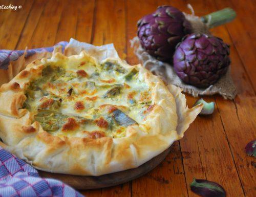 Torta salata ai carciofi e prosciutto