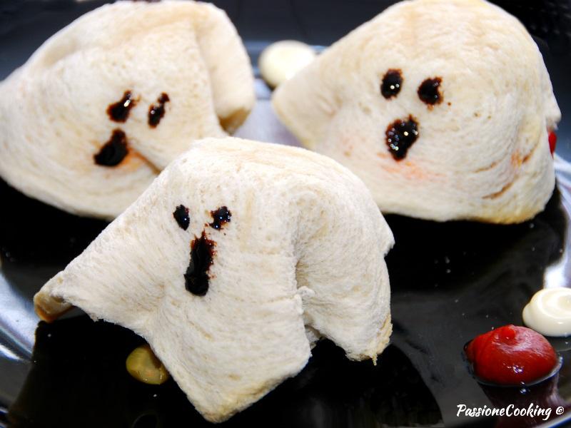 Toast fantasmino - ricetta halloween