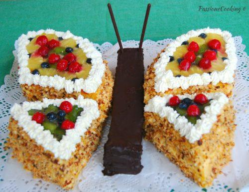 Torta di compleanno farfalla – senza pasta di zucchero