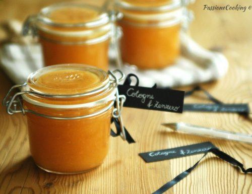 Marmellata di mele cotogne aromatizzata allo zenzero