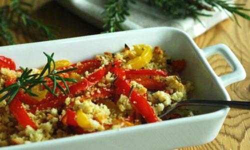 Peperoni gratinati al forno – contorno facile