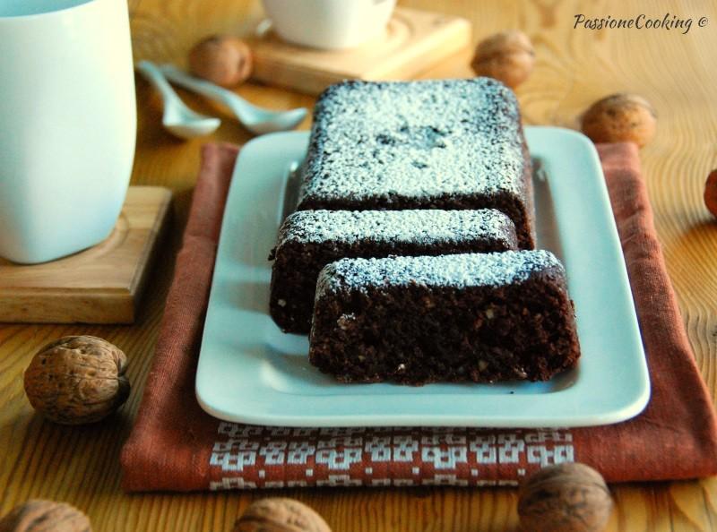 Plumcake di soli albumi con noci e cacao - ricetta riciclo