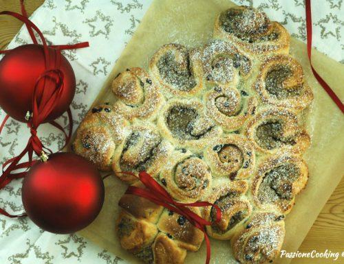 Albero di Natale di pan brioche con doppia farcia