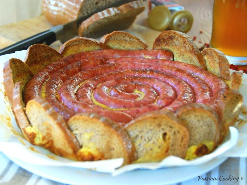 Torta di pane crauti e salsiccia