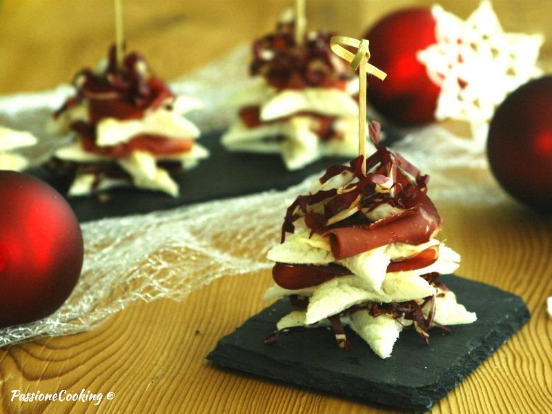 Alberelli di tramezzino - ricetta antipasto natalizio