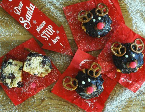 Muffin renna di Natale – senza burro e uova
