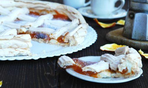 Crostata di meringa con marmellata – riciclo albumi