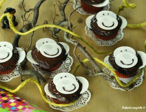Muffin scimmietta al cioccolato – ricetta bambini