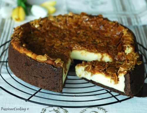 Cheesecake al forno con mandorle croccanti