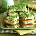 Sandwich di primavera condito - fresco e goloso