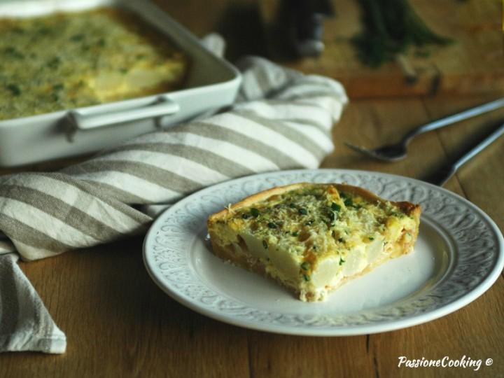 Torta salata di asparagi o quiche