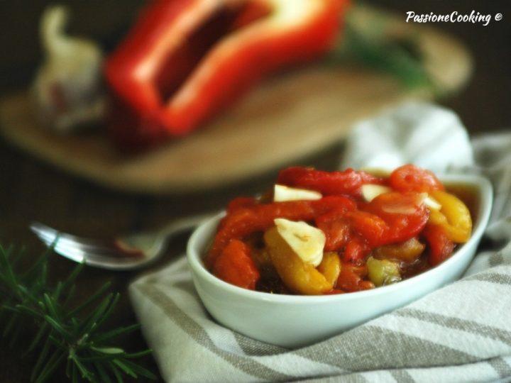 Peperoni arrostiti in insalata - contorno facile
