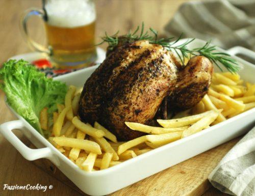 Pollo al forno cotto sulla birra – croccante