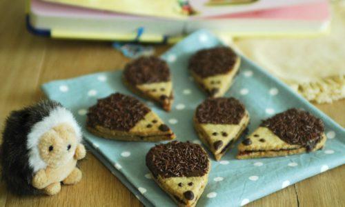 Biscotti integrali farciti a forma di riccio
