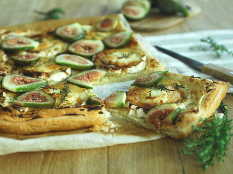 Torta di fichi freschi e caprino - ricetta salata