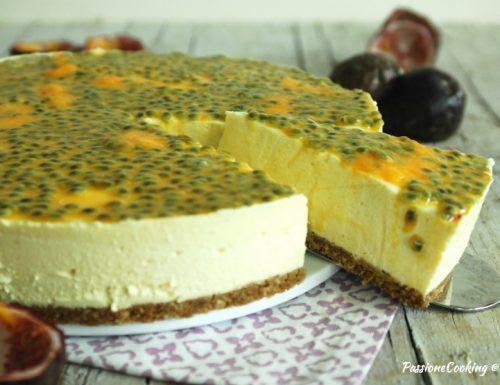 Cheesecake al mango e frutto della passione
