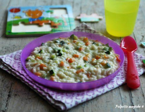 Risotto per bambini con verdurine e ricotta