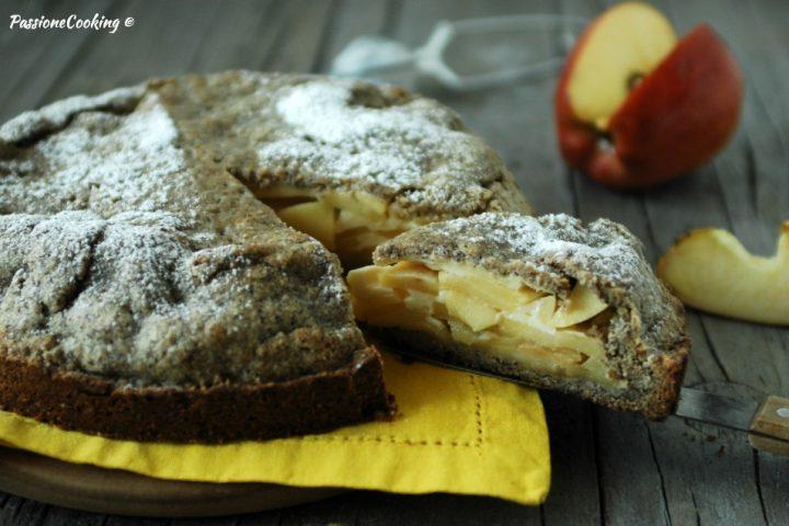Crostata di grano saraceno e mele