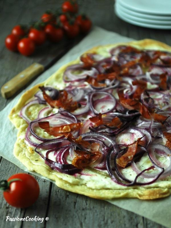 Tarte flambée o Flammkuchen - ricetta alsaziana