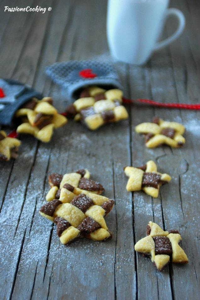 Biscotti bicolore intrecciati - semplici ma scenografici