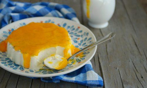 Panna cotta al cocco con salsa al mango