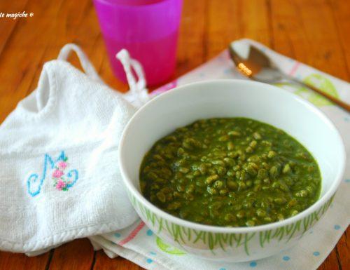 Risotto di farro agli spinaci – dai 10 mesi