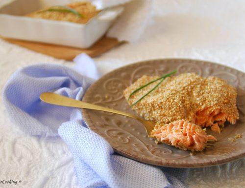 Filetto di salmone al sesamo – cotto in forno