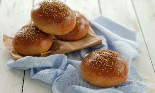 Panini per hamburger – burger bun – con lievito madre