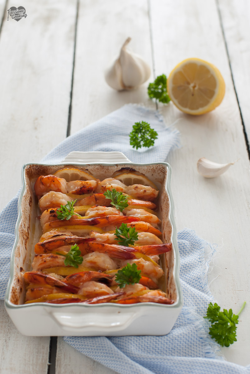 Code di gambero al forno con limone e zenzero