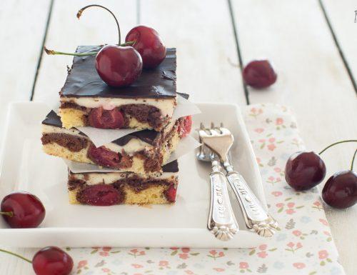 Donauwellen – torta ciliegie, crema e cioccolato