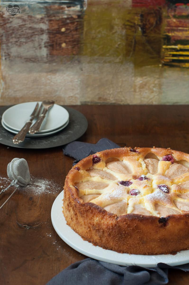 Cheesecake senza base con le pere - senza glutine