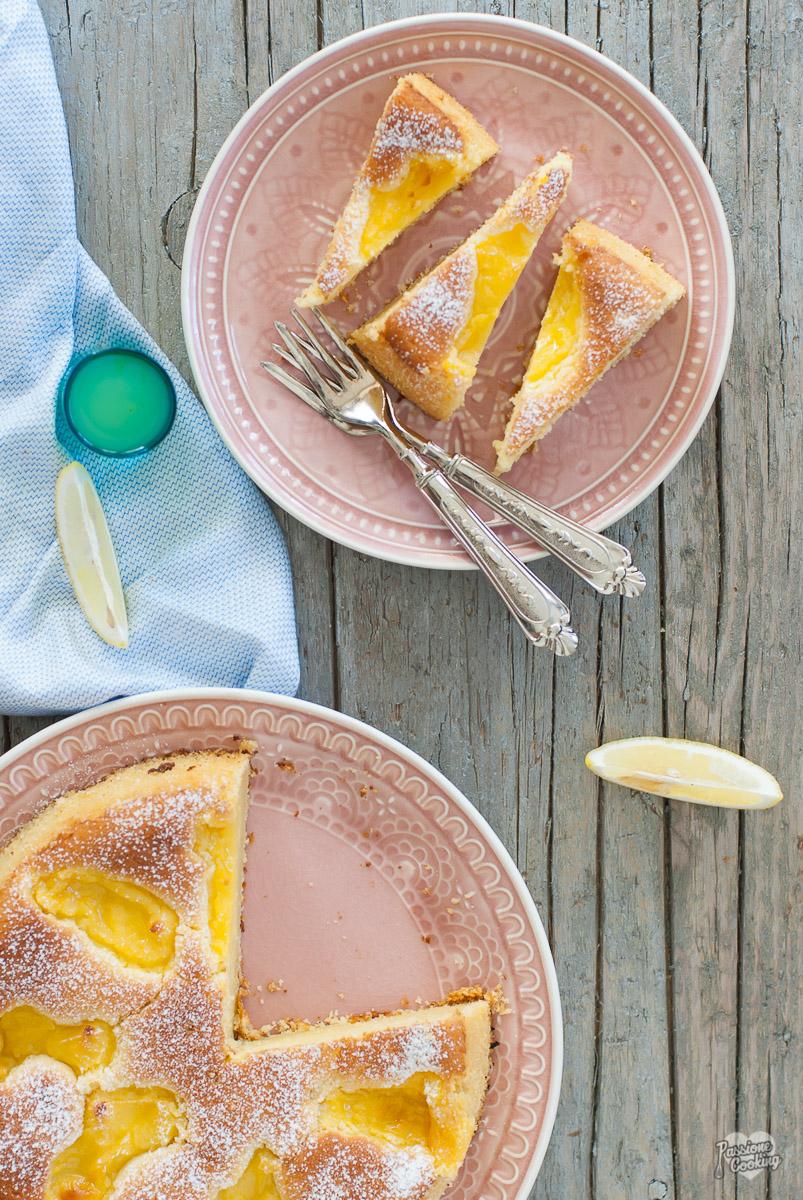 Torta al limoncello con crema al limoncello