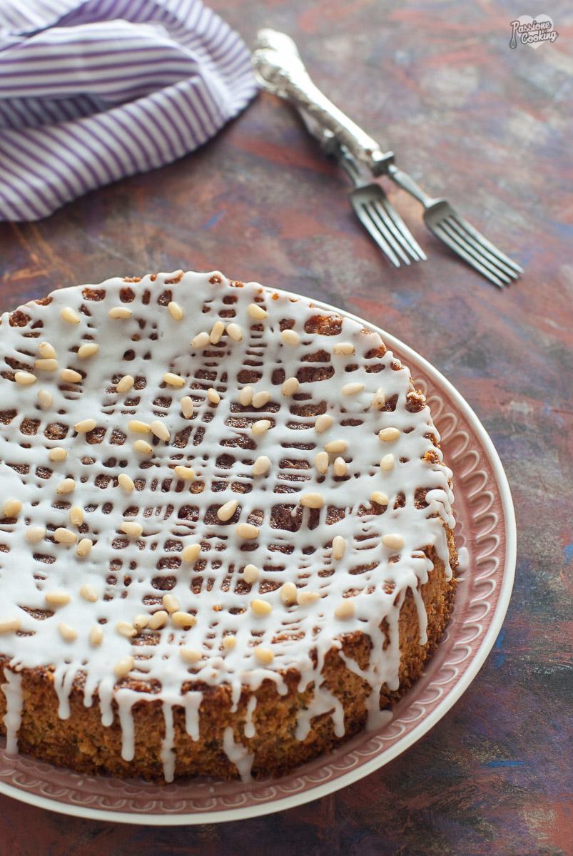Torta con pistacchi e prugne - morbidissima