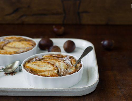 Clafoutis con farina di castagne e mele