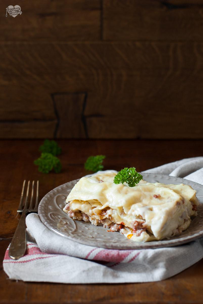 Lasagne con cavolfiore, salsiccia e Capuliatu