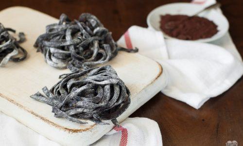 Tagliatelle al cacao fatte in casa