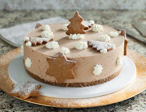 Cheesecake con Spekulatius e gianduia