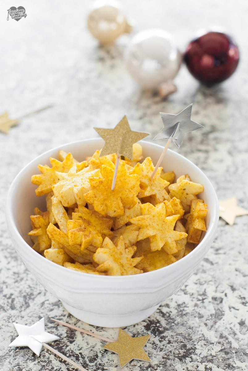 Stelle di patate alla curcuma