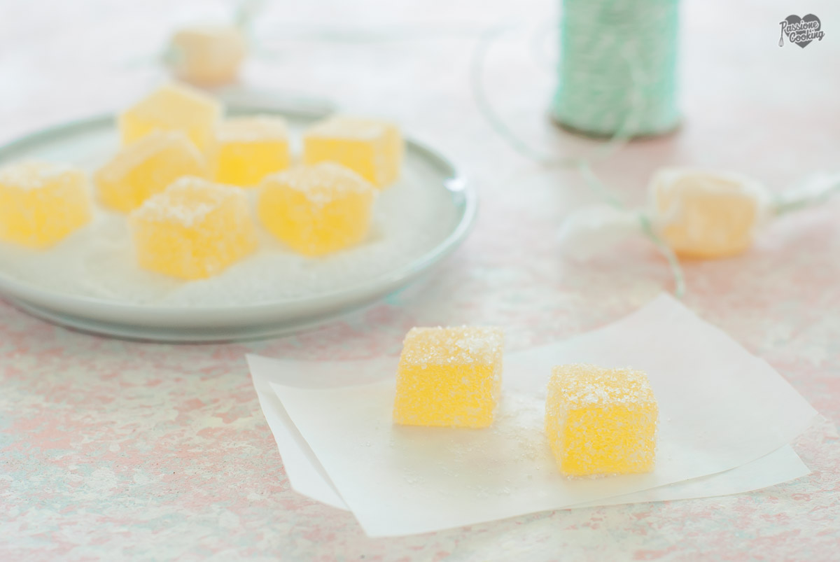 Caramelle gelee fatte in casa all 39 arancia e limone - Casa di caramelle ...