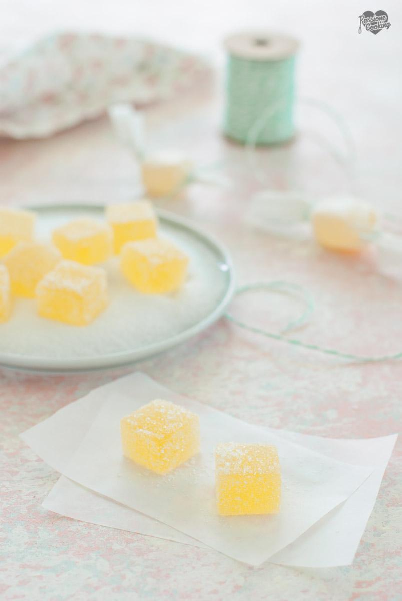 Caramelle gelee fatte in casa - all'arancia e limone