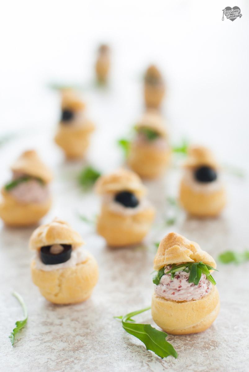 Bignè Salati Ripieni – Fingerfood da Aperitivo