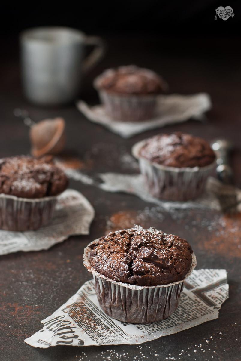 Muffin al Cioccolato Senza Burro e Olio